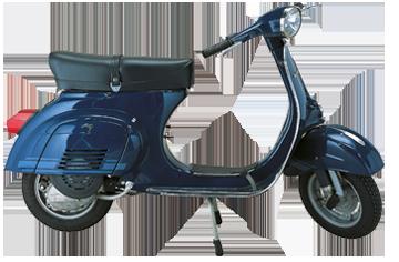 1976 Vespa 125 ET3 blu